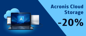 Скидка на Acronis Cloud Storage 20%